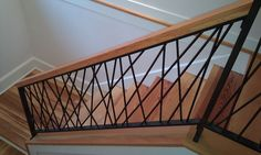 Diy Staircase Railing, Steel Stair Railing, Steel Railing Design, Indoor Railing, Interior Stair Railing, Modern Stair Railing, Balcony Railing Design, Home Stairs Design, House Furniture Design