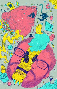Bruno Miranda is an illustrator from Sao Paolo, in Brazil. He creates colorful work on various themes.