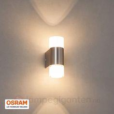 LED-vegglampe Lucian som lyser opp- og nedover. Bestilles enkelt og trygt hos Lampegiganten.no