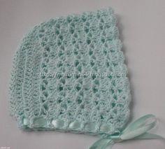 Marumin Crochet: Capota a crochet para bebe / Crochet Baby Cap to match Basic Round Yoke Jacket CR009