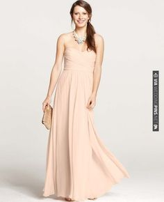 Silk Georgette Shirred Strapless Gown   CHECK OUT MORE IDEAS AT WEDDINGPINS.NET   #weddings #bridesmaids #bridal #dresses #fashion #forweddings