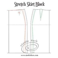 Stretch Skirt Block and Design Options Pdf Sewing Patterns, Vintage Patterns, Vintage Sewing, Hat Patterns, Suit Pattern, Pattern Making, Sewing Hacks, Stretch Fabric, Stretches