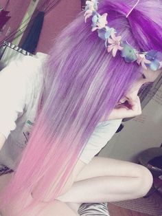 pastel lavender; forever obsessed with pink or purple hair. #beauty #girl #hair