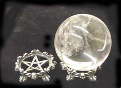 Lions Claw and Pentacle Crystal Ball Holder