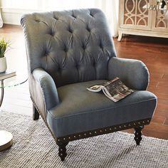 Elegant In A Timeless Silhouette, Our Chas Armchair Comes With Handcrafted Charm To  Spare. Overstuffed