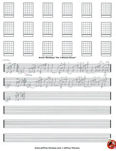 "On The Workbench: ""Do I Wanna Know"" by Arctic Monkeys.  I started the guitar tab for this jam.  Let me know if you would like a free skype review?  More free guitar, bass and ukulele lessons at: www.jeffrey-thomas.com"
