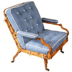 Antique Campaign Chair / Day Bed | From a unique collection of antique and modern chairs