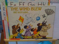 Read the book, discuss wind, have races blowing clouds(cotton balls) down the hall with straws- good intro to stronger winds in tornado and hurricanes