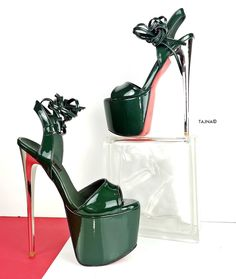 High Platform Shoes, Platform Stilettos, Stiletto Heels, Higher Higher, Women's Shoes, Shoe Boots, Cool High Heels, Talons Sexy, Pantyhose Heels