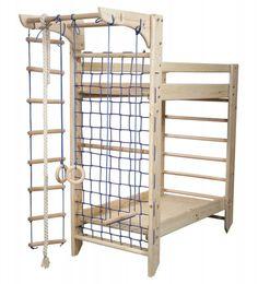 Шведская стенка-двухярусная кровать Спарта