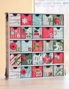 Advent Calendar (Kaiser Craft 25 drawer chest)
