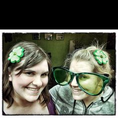 Pinterest Challenge Day 6 - Completed! Rosemary and I created our hair pins for Saint Patty's Day!