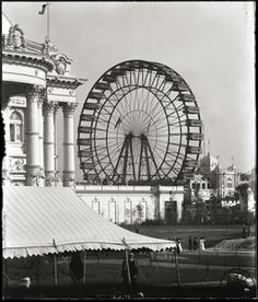 Worlds Fair 1904 Farris Wheel Ferris Wheel Chicago, Louisiana Purchase, Illinois State, Forest Park, World's Fair, Historical Society, Old Pictures, Pavilion, St Louis
