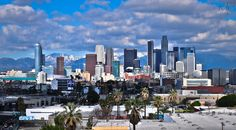Love this view of the downtown L.A skyline. Can't wait until the new Wilshire Grand towers are built.