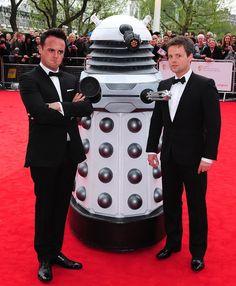 Ant and Dec & Dalek- Baftas arrivals - Digital Spy Declan Donnelly, Ant & Dec, Doctor Who Art, Dalek, Ants, Tv Presenters, Celebrities, Funny Stuff, Comedy