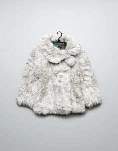 fur three quarter length coat - Coats - Baby girl (3-36 months) - Kids - ZARA United States