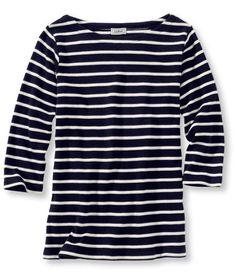 French Sailor's Shirt, Three-Quarter-Sleeve Boatneck: Three-Quarter Sleeve | Free Shipping at L.L.Bean