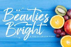 Beauties Bright #font #script #handwritten #handlettering #brush #brushfont #handmade #ilustrator #handwrittenfont #poster