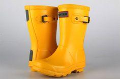 Flotte gule gummistøvler - men dyre!  Hunter Original Kids