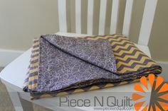 """No-Bind"" Simple Receiving Blanket Tutorial"