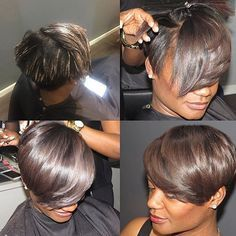 STYLIST FEATURE  Beautiful #highlights on this haircut @alstyling ✂️   #shortcut #haircolor #nycstylist #voiceofhair ✂️========================== Go to VoiceOfHair.com ========================= Find hairstyles and hair tips! =========================