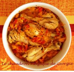 Poulet Basquaise WW au Thermomix Basquaise chicken WW at Thermomix – The magic cauldron Weigh Watchers, Weight Watchers Meals, Ww Recipes, Healthy Recipes, Traditional French Recipes, Cooking Chef, Entrees, Good Food, Food And Drink
