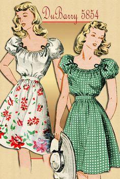 DuBarry 5854 Vintage 1940s Blouse and Skirt by FloradoraPresents, $13.00