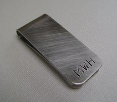 Money Clip - Personalized Hand Stamped Custom Money Clip - Groomsmen Gift - Mens Gift on Etsy, $15.00