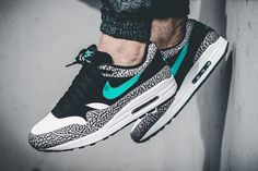 Nike Air Max 1 Atmos Elephant 2017. The Nike Air Max 1 Atmos Elephant is releasing in 2017 on March 18th with Elephant Print and Jade.