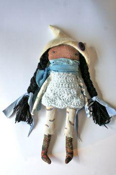 pixie little lu doll 12 ish rag doll cloth doll by humbletoys