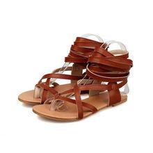 Vrouwen Platte Gladiator Sandalen Mode Zomer Schoenen Sexy Knie Hoge Sandalen Laarzen 3 kleuren Vrouw Schoenen Grote Maat EU34-43 WSH2032(China (Mainland))