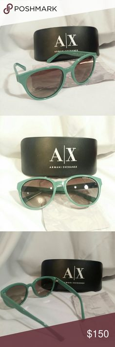 """Armani Exchange sunglasses AUTHENTIC!Women's Sunglasses   """"Armani Exchange AX4034 81508E""""   Gradient  (Sunglasses comes with Original Case and Cleaning Cloth)  Frame size: Eye - 54mm Bridge - 18mm Temple - 135mm Frame almost in perfect condition, has few tiny scuffs only visible under close inspection.  Lenses have just tiny scratches and not affecting the vision! Armani Exchange Accessories Glasses"""