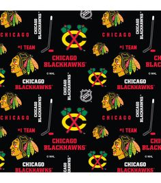 Fabric Chicago Blackhawks Nhl Hockey Black Cotton Fabric Material By The Yards & Garden Chicago Blackhawks Logo, Nhl Chicago, Fabric Letters, Only Shirt, Thing 1, Fabric Material, A Team, Fabric Crafts, Black Cotton