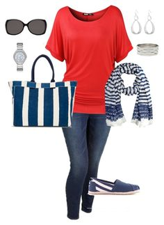 """Plus Size Summer Holiday Outfit, Americana"" by jmc6115 on Polyvore"