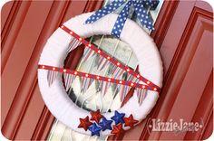 LizzieJane Baby: Stars & Stripes Wreath
