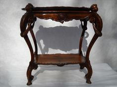 Tea Table (hand carved) - Antique Chicago Rococo on Ruby Lane $1200.00