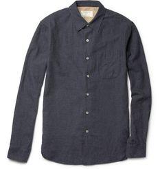 Rag & Bone  Beach Brushed-Cotton Shirt