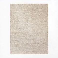 Mini Pebble Jute Wool Rug, 8 x 10 or 9 x 12 via West Elm. Natural/Ivory color. Special $419