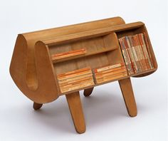 'Penguin Donkey' Bookcase, Egon Riss. Manufactured by Isokon Furniture Co, London 1939