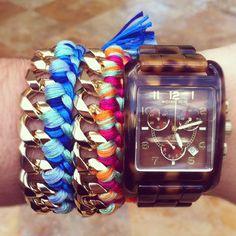 chunky gold braided bracelet