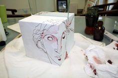 Drawings in the room or venus - object drawing form Susanne Haun   www.susannehaun.com