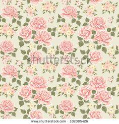 Victorian Rose Wallpaper | Victorian Wallpaper Pattern Rose Pink vintage rose pattern.