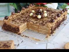 How to make a delicious cookie and mocha cake without an oven; everyone likes faciles gourmet de cocina de postres faciles pasta saludables vegetarianas Layered Desserts, Köstliche Desserts, Dessert Recipes, No Bake Chocolate Cake, Cooking Time, Cooking Recipes, Mocha Cake, Beautiful Soup, Candy Cakes