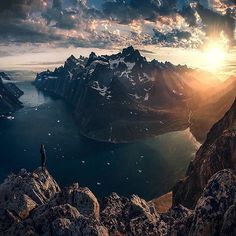 """via. @maxrivephotography  """"Looking over the fjords in Southern Greenland.  I'm currently shooting the glaciers in some remote areas in the most southern part of Patagonia. The landscapes I've seen and explored the last couple of days are probably the most spectacular ones I've seen so far. Although I'm sorry I'm not in a position to process and share my photos right now - I will show my work after my visit to Norway in March. Thanks all for the continuous support and enjoy your weekend!""""…"""