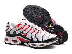 e0c43e0ffd4a Boutique Officielle Nike Air Max TN Tuned Chaussures Pas Cher Pour Homme  Noir - Rouge - Blanc