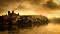 Dawn over the river Passau, Germany by Allan Sutherland Passau Germany, Places To Travel, Places To Visit, European River Cruises, Three Rivers, Photography Competitions, Over The River, Travel Bugs, Big Picture