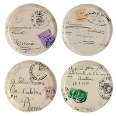 I pinned this 4 Piece Cartes Postales Coaster Set from the Rosanna event at Joss and Main!