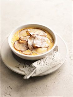 baked pear custard  donna hay.  Note: Adjusted this recipe by adding a little Gray Goose La Poire for pear flavor.
