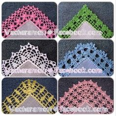 ◇◆◇ My Work: Crochet Edging. Follow me at https://www.facebook.com/Vacharamon