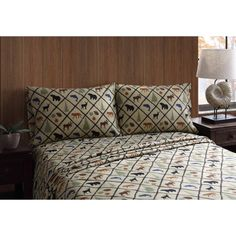 A lattice pattern accented with woodland flora and fauna on the Remington Wilderness Retreat Grid Sheet Set by PEM America makes it a must-have for. Bed Sheets Sale, Twin Sheets, Twin Sheet Sets, Flat Sheets, King Pillows, Bedroom Themes, Bedroom Bed, Wilderness, Pillow Cases